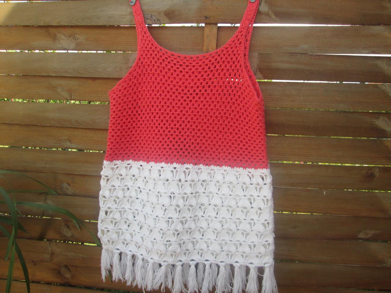 tricot au crochet femme