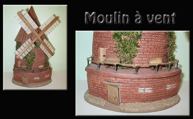 Maquette sur Tuile moulin à vent